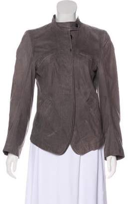 Ann Demeulemeester Leather Button-Up Jacket