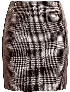 723ba72ad8 Akris Punto Women's Metallic Lurex Glen Check Mini Skirt