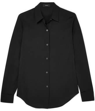 Theory Tenia Silk Shirt - Black