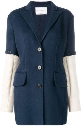 Sonia Rykiel knitted sleeves blazer