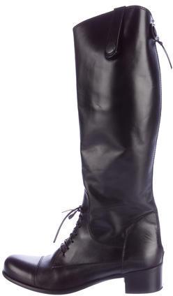 Miu MiuMiu Miu Leather Riding Boots