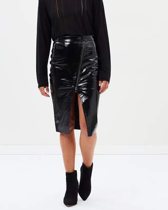 One Teaspoon Reformer Patent Leather Skirt