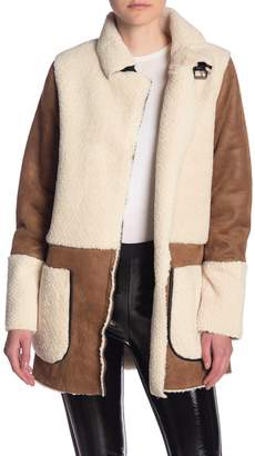 Dex Faux Suede & Faux Shearling Coat