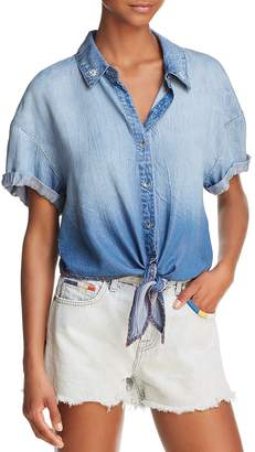 Splendid x Margherita Tie-Front Chambray Shirt