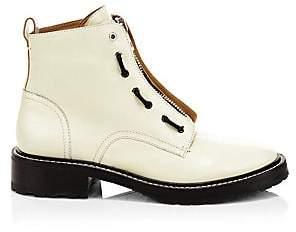 Rag & Bone Women's Cannon Zip-Up Leather Combat Boots