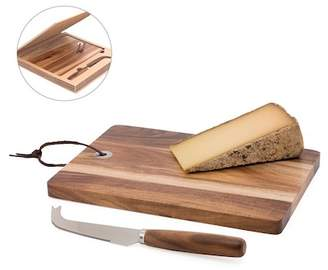 Torre & Tagus Acacia Wood Cheese Board & Knife - 2 Piece Set