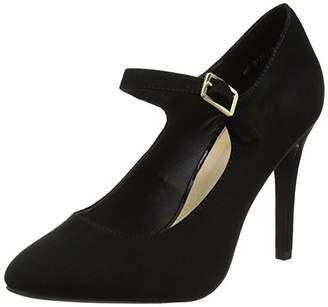 New Look Women's 5122708 Ankle Strap Heels, (Black), 36 EU