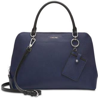 Calvin Klein Hudson Saffiano Leather Satchel