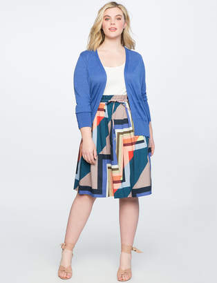 Printed Midi Skirt with Tie Waist