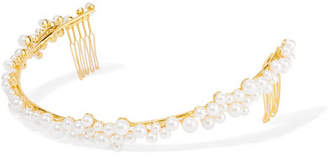 Swarovski (スワロフスキー) - LELET NY - Gold-plated Swarovski Pearl Headband - one size