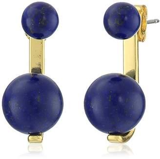 Noir Sphere Semi Precious Orange Jasper Earrings Jackets