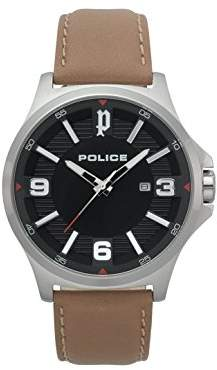 Police Mens Chronograph Quartz Watch with Leather Strap PL.15384JS/02