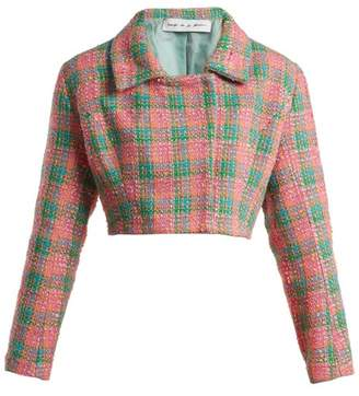 Emilio De La Morena - Angeles Cropped Tweed Jacket - Womens - Pink Multi