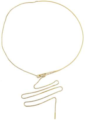 Jade Trau Eyelet Pendant Necklace - Yellow Gold
