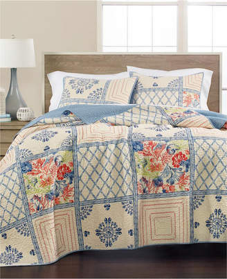 Martha Stewart Collection Seaside Coral Twin Quilt