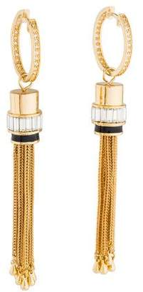 Rachel Zoe Tassel Drop Hoop Earrings