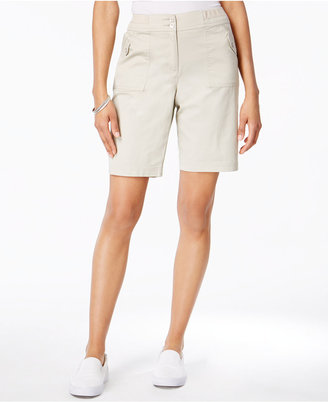 Karen Scott Ribbed-Waistband Bermuda Shorts, Only at Macy's $39.50 thestylecure.com