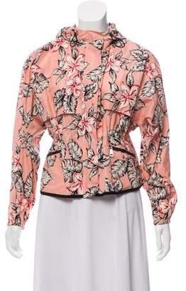 Moncler Hooded Floral Jacket