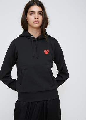 Comme des Garcons Red Heart Hooded Sweatshirt