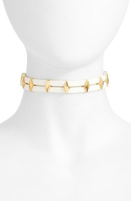 Women's Vanessa Mooney Monroe Leather Choker $63 thestylecure.com