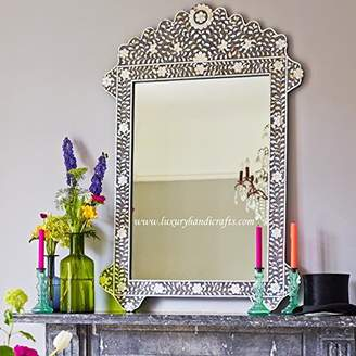 Mother of Pearl Luxury Handicrafts Inlay Floral Mirror