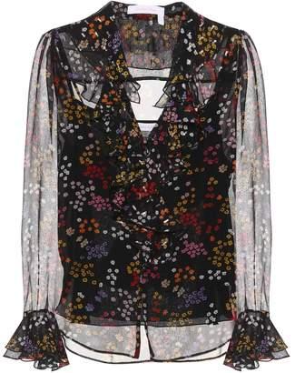 See by Chloe Printed silk blouse