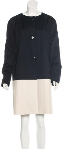 Kate Spade Kate Spade New York Collarless Knee-Length Coat w/ Tags