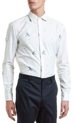 Etro Men's Dragonfly Fil Coupe Long-Sleeve Sport Shirt