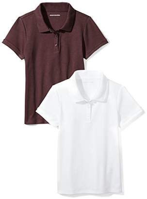 Amazon Essentials Girls' Uniform 2-Pack Interlock Polo