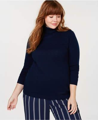 Charter Club Plus Size Pure Cashmere Turtleneck Sweater