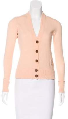 Tory Burch Embroidered Cashmere Cardigan