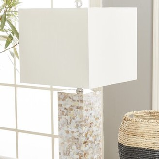 """Beachcrest Home Indian Rocks Shell 25"""" Table Lamp"""