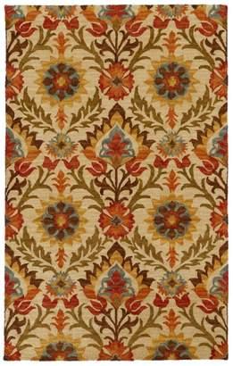 L.L. Bean L.L.Bean Wool Hooked Rug, Botanical Floral