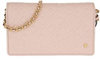 Tory Burch Fleming Flat Crossbody Wallet Leather Shell Pink