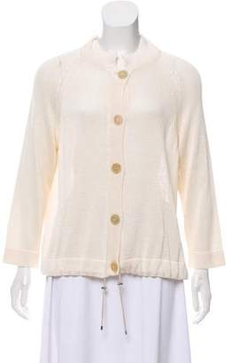 Fabiana Filippi Silk Mock Neck Cardigan