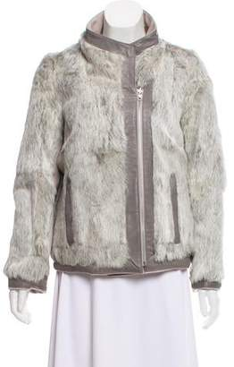 Helmut Lang Wool and Fur Jacket