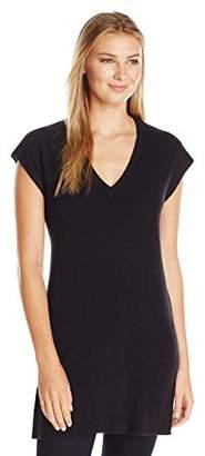 Lark & Ro Women's Cashmere V-Neck Tunic Vest