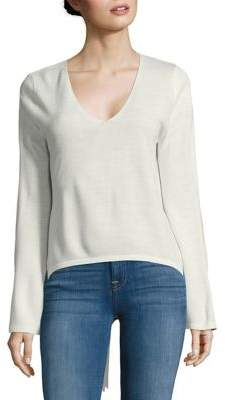 Miss Selfridge Bow Tie Accent Long-Sleeve Tee