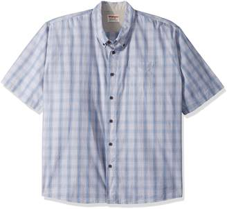 Wrangler Authentics Men's Big and Tall Authentics Short Sleeve Plaid Woven Shirt