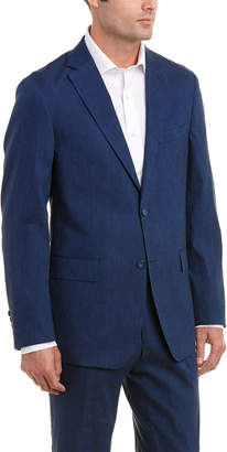 Enzo Linen-Blend Suit With Flat Front Pant