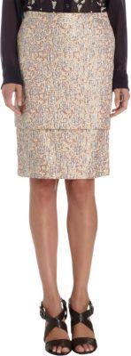 Dries Van Noten Two-tiered Brocade Skirt