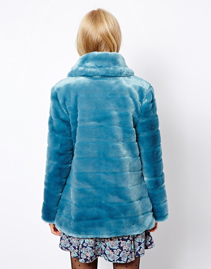 Asos Faux Fur Pelted Coat