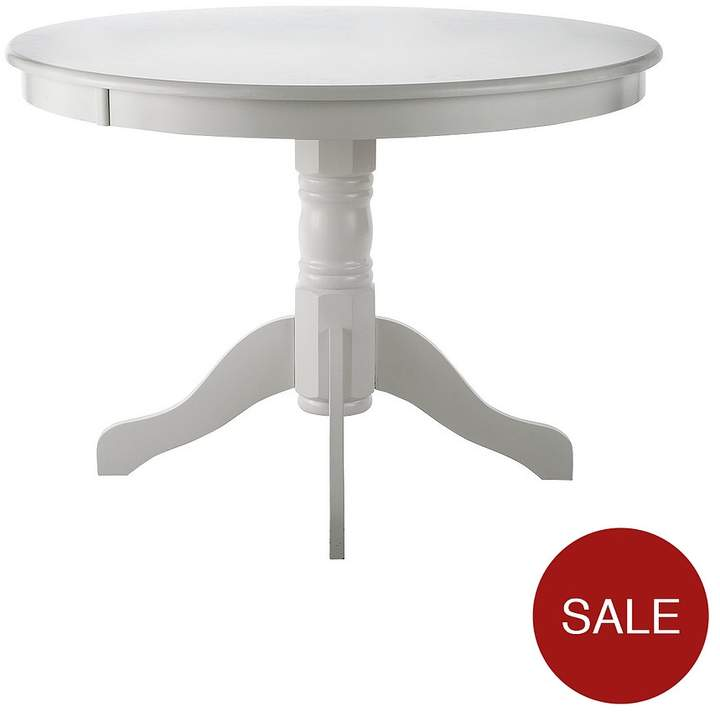 Ace 107 Cm Circular Dining Table - White