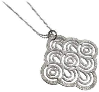 Goldmajor Stainless Steel Lady's Art Deco Design Pendant with Frosted Finish on 18 Inch Bead Chain