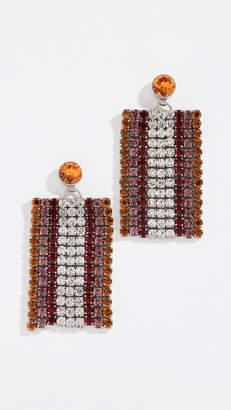 For Love & Lemons Bianca Crystal Earrings