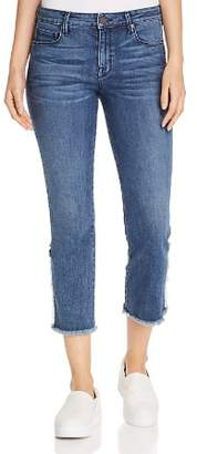Parker Smith Rebel Straight Cropped Jeans in Blue Villa