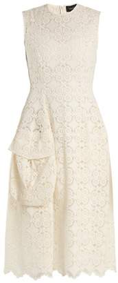 Simone Rocha - Sleeveless Lace Midi Dress - Womens - Ivory
