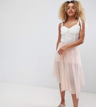 New Look Petite Hanky Hem Skirt