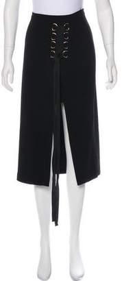 Rebecca Vallance Lace-Tie Midi Skirt