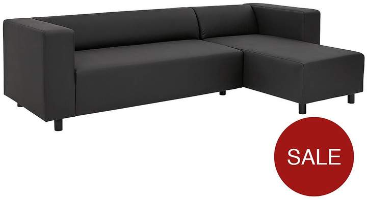 Clarke Faux Leather 3 Seater Right Hand Corner Chaise